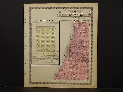 Michigan, Oceana County Map, Benona/Pentwater Township, 1913   K4#64
