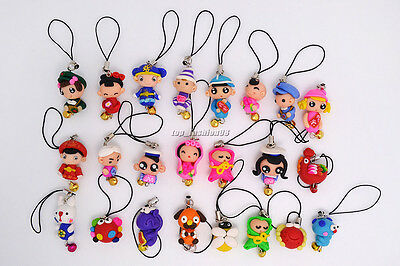 Wholesale Lots colorful 20ps FIMO polymer clay Animal Mobile phone chain jewelry