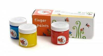3x Finger paint 75 ml Red Yellow Blue Color Kids color