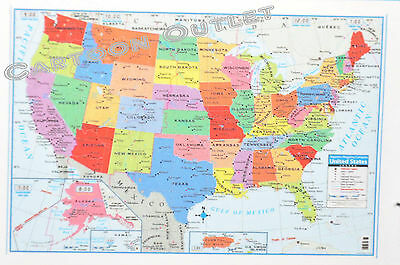 large us map poster wall art print decoration 40 x 28 superior mapping co