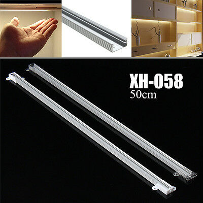 50cm XH-058 Aluminium Channel Holder For LED Strip Light Bar Under Cabinet Lamp