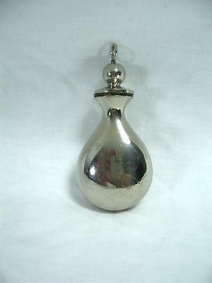 Antique Silver Plated Scent Perfume Bottle Fob Chain Chatelaine Attachment Loop