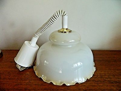 Lovely Retro DAR Country Ceiling Light, Large Glass Shade