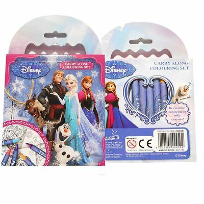 Disney Frozen Carry Along Colouring Pad Stocking Filler Activity Set Kids