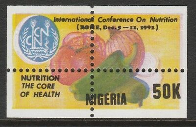 Nigeria 2664 - 1992 Conference on Nutrition   MISPLACED  PERFS  unmounted mint
