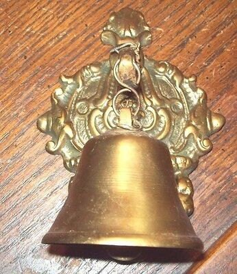 Gorgeous Rare Vintage Commercial Business Solid Brass Front Door Inside Bell