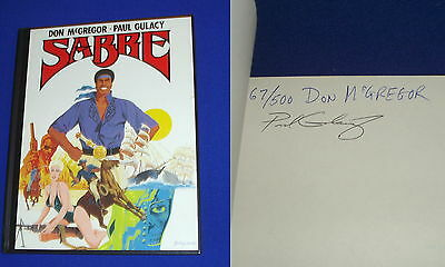 Sabre: Don McGregor & Paul Gulacy. HC signed & numbered, 10th Anniversary edn.