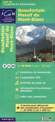 Beaufortin Massif du Mont Blanc - IGN Top 75