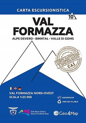 Val Formazza north west Hiking Map 10 1:25,000