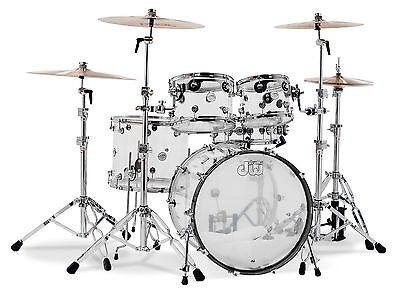 DW Drums Design Series Acrylic Shell Pack - FREE DWSM991 Tom Clamps