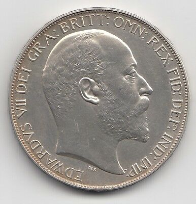 Very Rare Edward VII 1902 Matt Proof Silver Crown 5/-