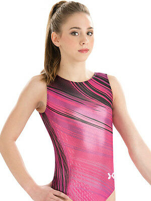 New Under Armour Gymnastics Bodysuit Leotard Fuse Black Pink Ambition Adult AS