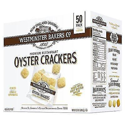 Westminster Bakers Company Premium Restaurant Oyster Crackers, 25 Ounce (50