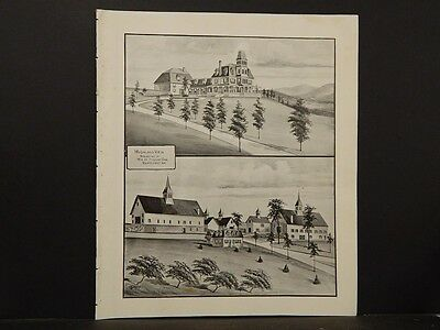 New Hampshire Map, Highland View, Claremont , 1892 pictorial pg L5#23