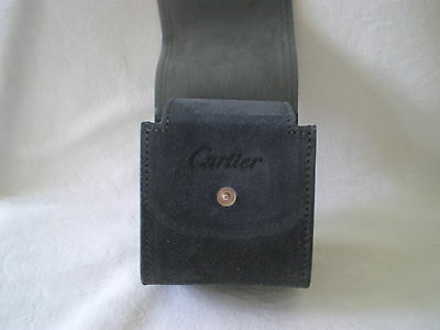 Original Cartier Small Leather  Travel Or Storage Pouch For A Watch