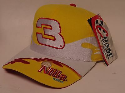 Chase Authentics Nascar DALE EARNHARDT JR. #3 Nilla Wafers Hook/Loop Cap/Hat