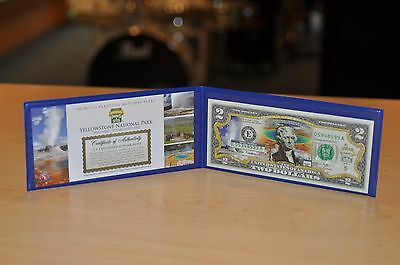 Yellowstone National Park U.S. Colorized $2 Commemorative Bank Note