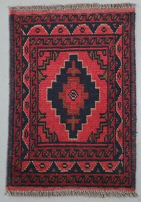 Mohammadi Hand Knotted Wool Afghan Tribal Persian Rug - 59x40cm (Ref. 2512)