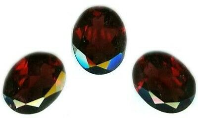 Antique 19thC 2 1/4ct Faceted Blood Red Garnet 9mm*7mm Gem