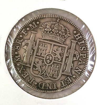 1789 Colonial Mexico .  8 Reales . Silver Dollar . Km# 109