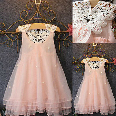 Flower Girls Princess Dress Kids Baby Party Pageant Lace Tulle Tutu Dresses Hot