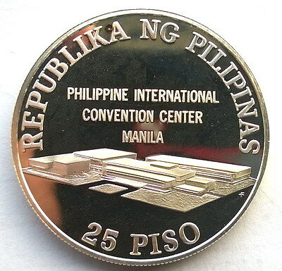 Philippines 1979 UN Conference of Trade 25 Piso Silver Coins,Proof