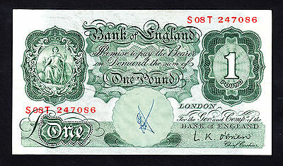 Bank of England 1 Pound ND 1955 RB54 L.K. O'Brien Replacement Note S08T VF