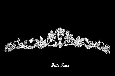 Communion Tiara, first communion headpiece and veil, crystal communion tiara