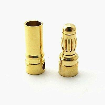yueton 30Pairs 3.5mm Male Female Banana Plug Bullet Connector Replacements New