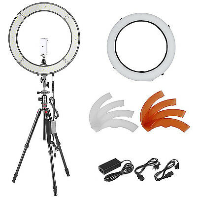 "Neewer 18"" 55W LED SMD Dimmable Ring Light, 64"" Tripod Monopod, Phone Holder"