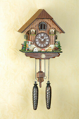 Cuckoo clock with Dwarf, Black forest, Night-time shut-off, Made in Germany 433Q