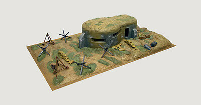 6070 Italeri Wwii-Bunker And Accessories 1/72 Diorama Accessory  Plastic Kit