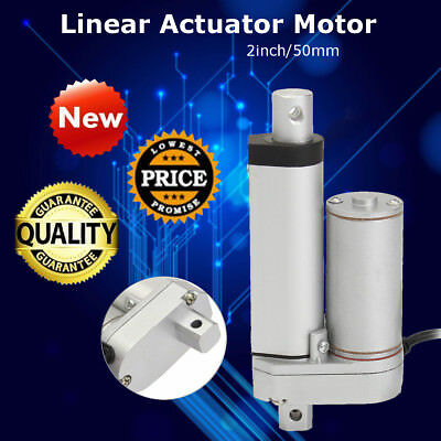 12V 2'' Linear Actuator Motor Adjustable Electric Industry Heavy Duty Lifting-US