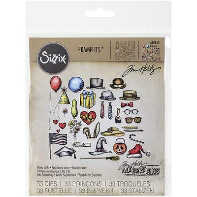 Sizzix Tim Holtz Framelits Die Set - CRAZY THINGS