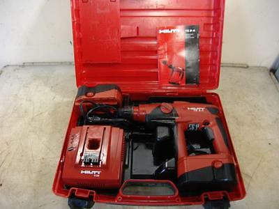 Hilti Te 2-A  Rotary Hammer Drill 24V 2 Batteries Charger Works Fine
