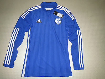 Spieler Trikot FC Schalke 04 Home LS 15/16 Orig adidas Gr M L XL player issue
