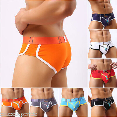 Men's Boxer Briefs Shorts Bulge Pouch Underpants Printed Antibacterial Underwear