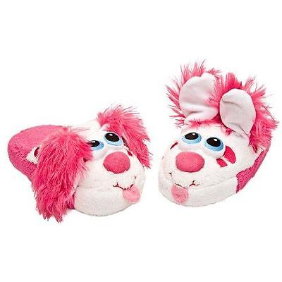 Stompeez Pink Puppy Children's Slippers (Large) New