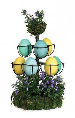 Country new antiqued finish 3 tier wire EGG TREE / nice easter egg holder