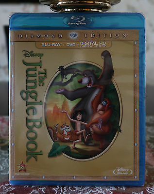 DISNEY JUNGLE BOOK 2 DISC Diamond AUTHENTIC Digital HD Blu Ray DVD New
