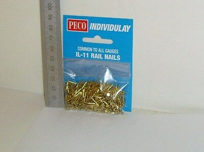 Peco IL-11 Brass Rail Nails - (For use with Model Railways)