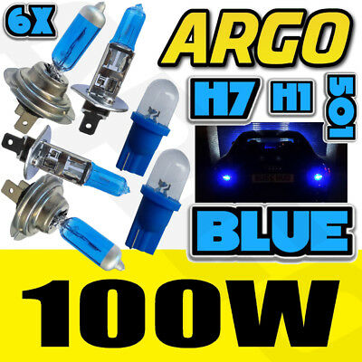 H7 T10 H1 100W Super Blue Xenon Upgrade Head Light Bulbs Set Main Dip Beam Led