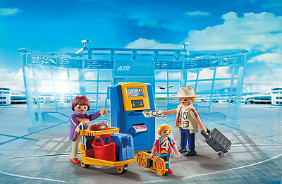 Playmobil - City-Flughafen - Familie am Check-in Automat, NEU, OVP, 5399