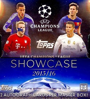 2016 Topps Uefa Champions League Showcase Soccer Box Blowout Cards
