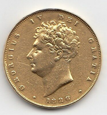 Rare 1826 Great Britain King George Iv Proof Gold Two Pound £2 Coin - Ex Mount