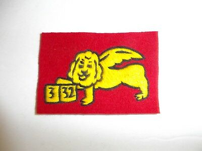 b1701  WW 1 332nd Infantry Regiment Shoulder Patch US Forces in Italy PC8