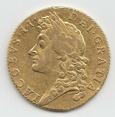 1687 James II GOLD GUINEA