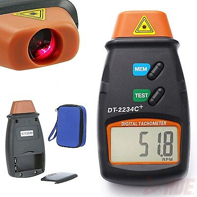 Digital Laser Tachometer RPM Meter Non-Contact Motor Speed Gauge Revolution Spin