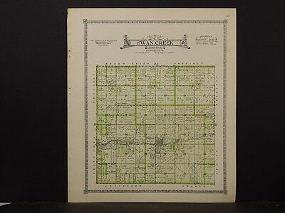 Nebraska, Saline County Map, Swan Creek Township  1918  K5#44