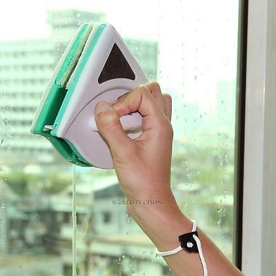 Glider Double Side Magnetic Window Glass Cleaner Glazing Wiper Cleaning Tool Hot